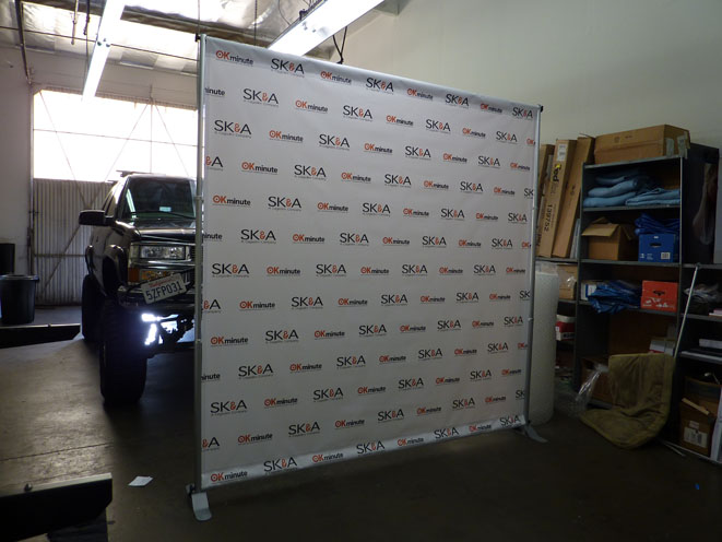 step and repeat display graphic