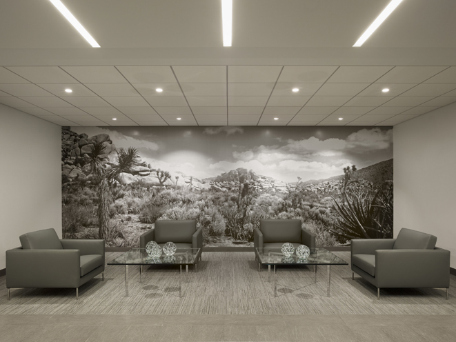 lobby background mural